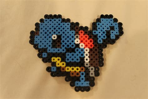 8 bit bead 8 bit squirtle perler bead magnet by toomanyguppies