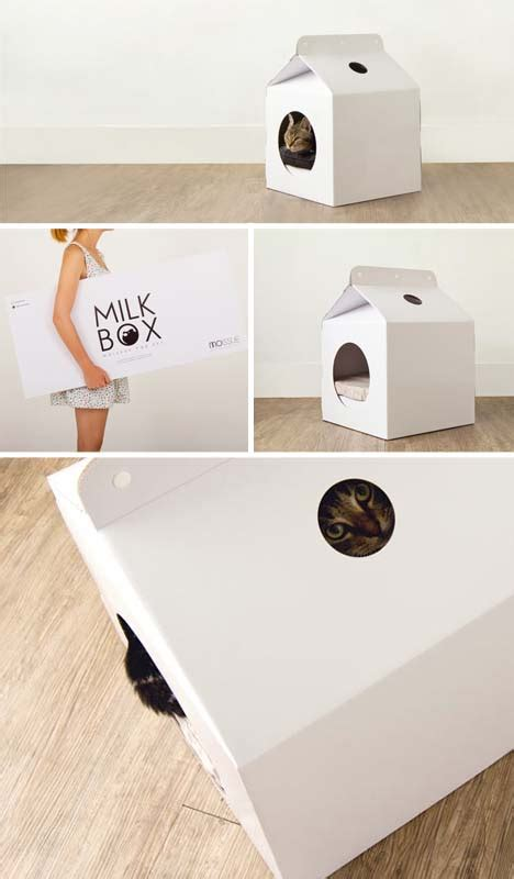cardboard box house designs pet house from moissue combines versatile milk box design with weightless cardboard