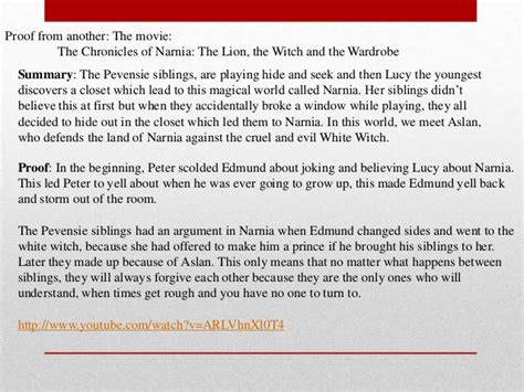 Summary Of Narnia The The Witch And The Wardrobe - book report the the witch and the wardrobe summary