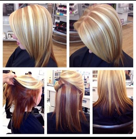chunky blonde top dark under 185 best images about contrast hair color on pinterest
