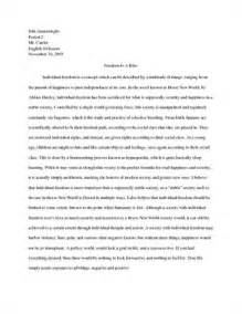Brave New World Essay essays essay on brave new world