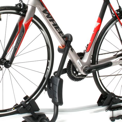 lock bike to roof rack alloy car roof bike bicycle carrier rack with lock ebay