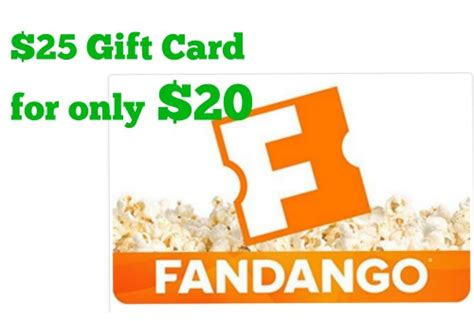 Fandango Gift Card Deals - 25 fandango gift card for only 20