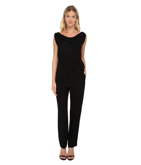 black all in one jumpsuit clothing