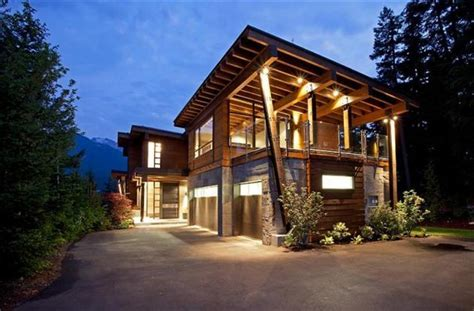 contemporary cabin home in whistler canada hiconsumption