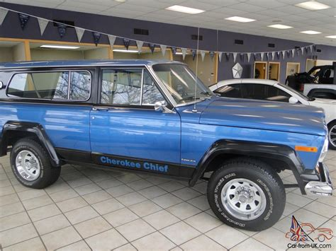 jeep chief for sale 1978 jeep cherokee chief sport v 8 awd great shape runs