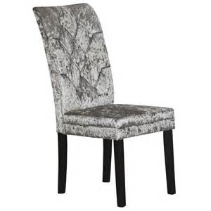 lowry crushed velvet dining chair silver dining chairs
