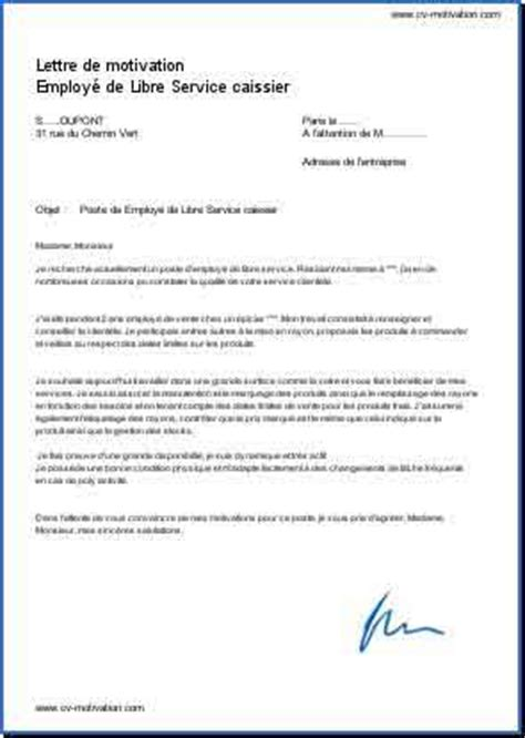 Exemple De Lettre De Motivation Québec exle resume exemple lettre de motivation caissier
