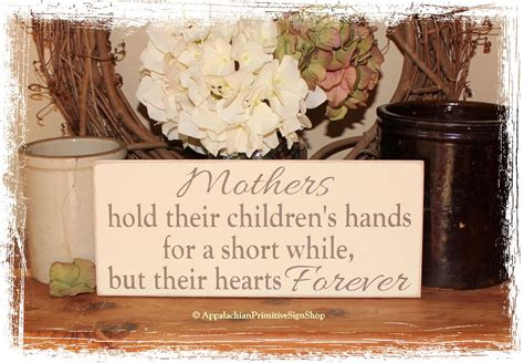 home decor gifts for mom mothers hold their childrens hands wood sign family sign