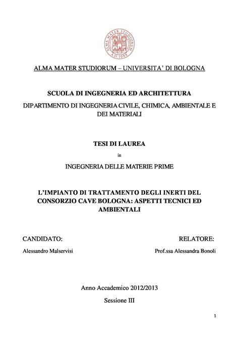 www lettere unibo it tesi triennale l impianto di trattamento degli inerti
