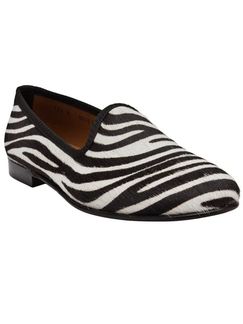 zebra loafers toro zebra loafer in black zebra lyst