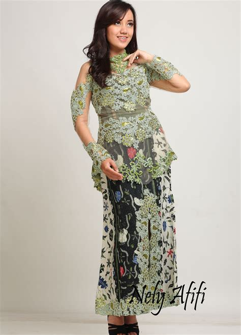 Kebaya Prada Modern kebaya modern lace prada batik tulis madura