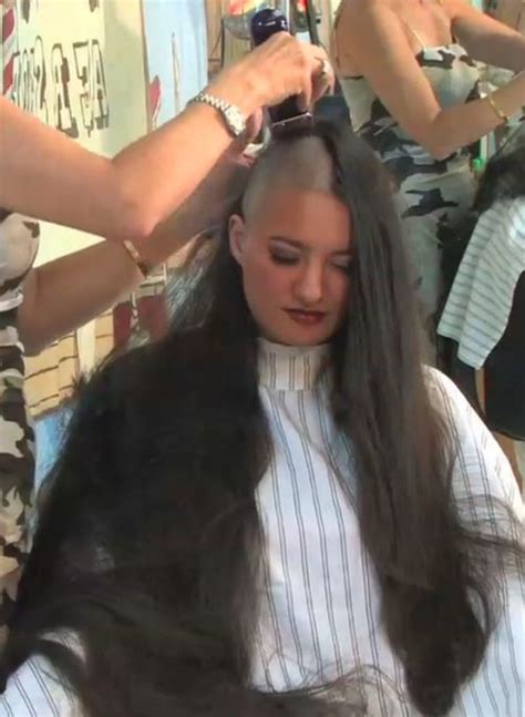 forced haircut and headshave video 246 best images about from long to bald hair or buzz hair