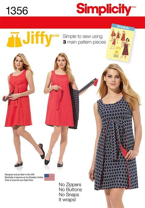 pattern review uk simplicity 1356 misses jiffy 174 reversible wrap dress