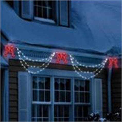christmas led swag lights with bows 3d lighted bow and swag decoration lights 11 13 2007