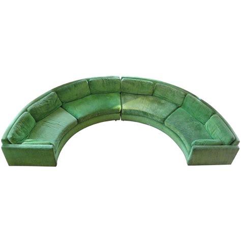 milo baughman circular sofa semi circular curved sectional sofa by milo baughman