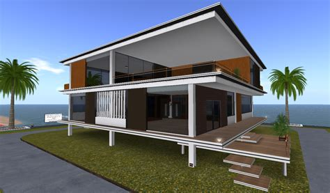 architectural design house expol villa modern architectural design bobz design studio creations second life