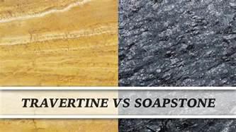 Travertine Vs Granite Countertops by Travertine Vs Soapstone Countertop Comparison