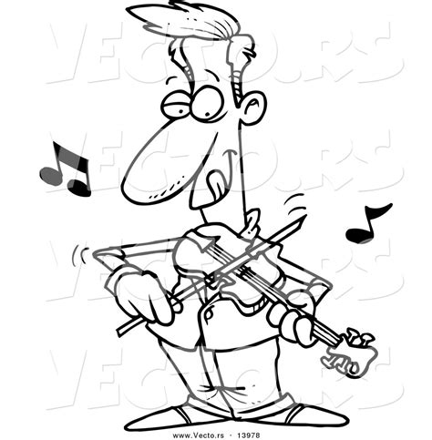 playing violin coloring page play the violin clipart 26