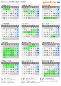 kalender 2018 ferien sachsen anhalt feiertage