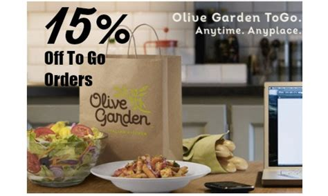 olive garden coupon code to go 15 off olive garden to go orders southern savers