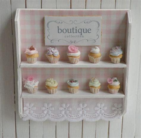 Shelf Of Cupcakes miniature artisan cupcakes and bakery shelf polymers