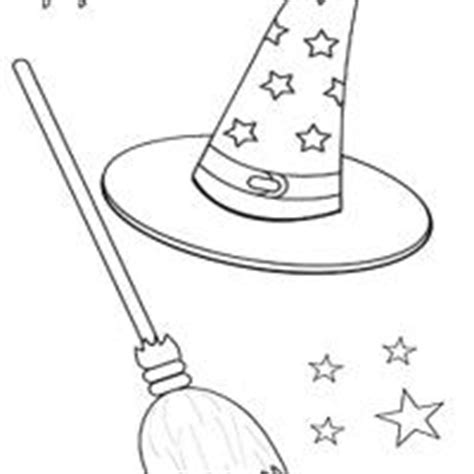 free coloring pages witches hat witch hat and broom