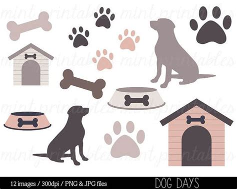 dog house silhouette dog clipart clip art animal clipart dog silhouette puppy pets paw print bone