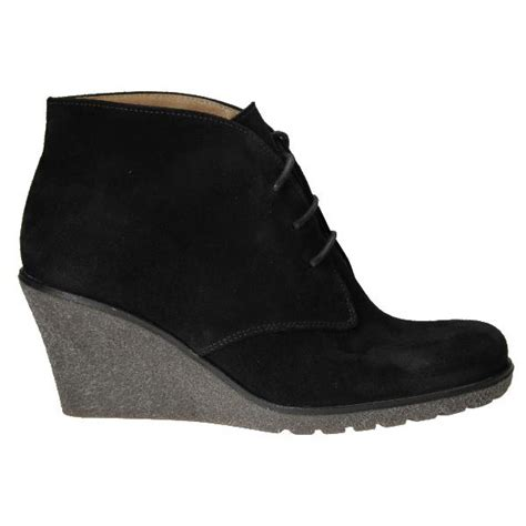 gabor elen 51 680 17 black suede wedge ankle boot gabor