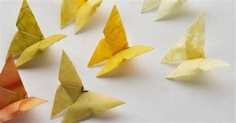kumpulan tutorial origami mudah cara membuat origami kupu kupu dari kertas lipat