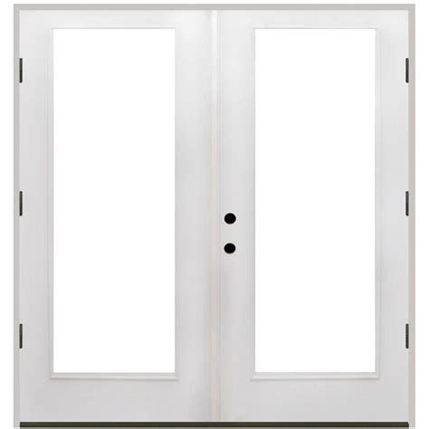 Steves Sons 72 In X 80 In Primed White Fiberglass Outswing Patio Doors