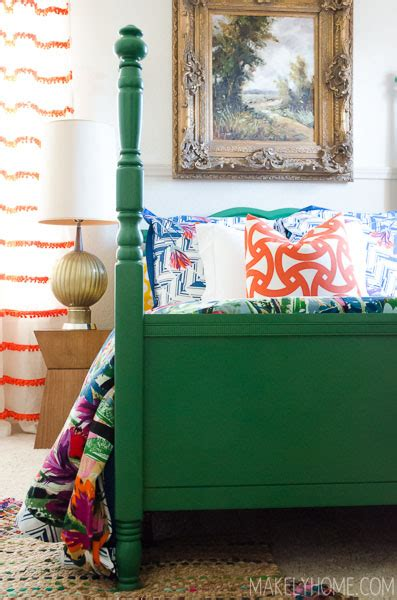 How To Paint A Bed by Try This Emerald Green Furniture Makeovers Four