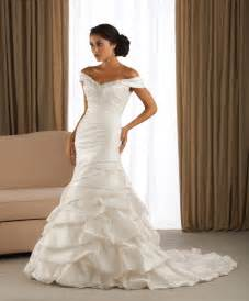 wedding dresses with the shoulder sleeves mermaid wedding dresses with the shoulder