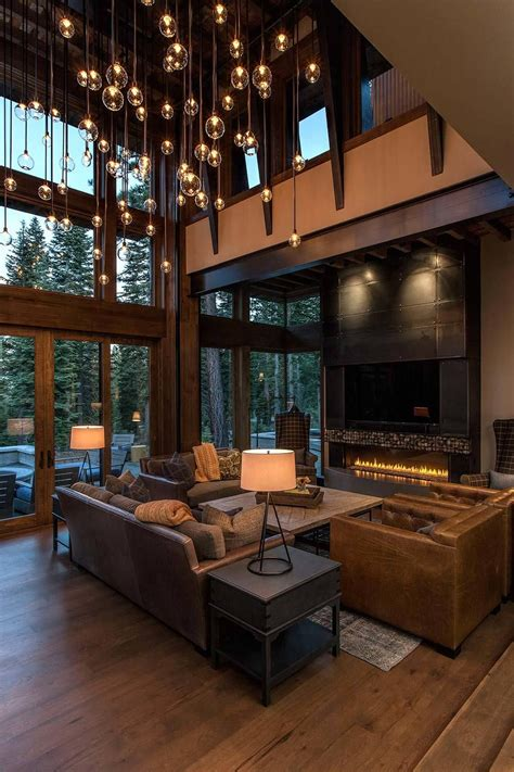 rustic home interior design lake tahoe getaway features contemporary barn aesthetic