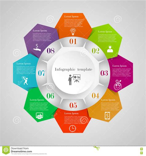 infographic flowchart template infographic circle flowchart template stock vector image