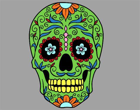 Dessin De F 234 Te Des Morts Au Mexique Colorie Par Membre Non