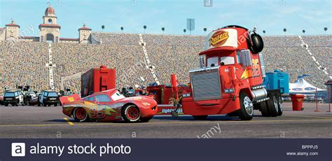 lighting mcqueen and mack lightning mcqueen mack cars 2006 stock photo 31233501