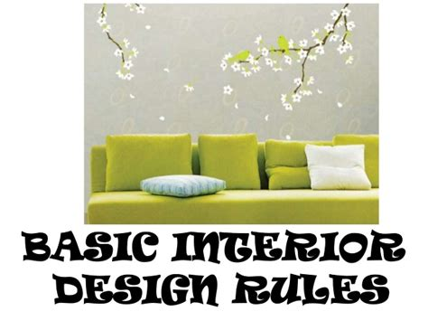 home design rules basic interior design rules