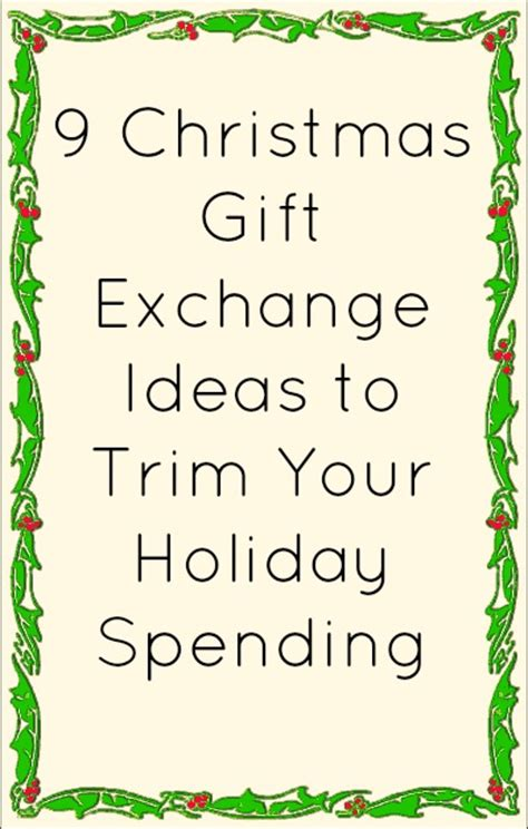 9 christmas gift exchange ideas to trim your holiday