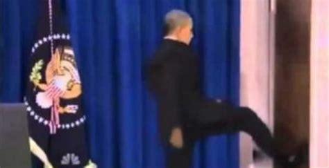 Obama Kicks Door by President Barack Obama Kicks The Door In