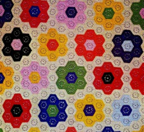 Hexagon Patchwork Blanket - 1000 images about crochet afghans grandmothers flower