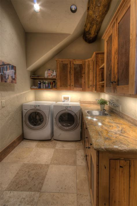 Ranch At Goldenview Rustic Laundry Room Other Metro Rustic Laundry