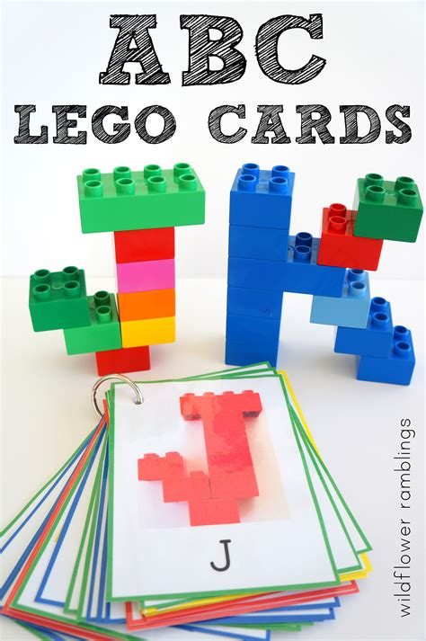 lego card templates alphabet lego cards uppercase free printable