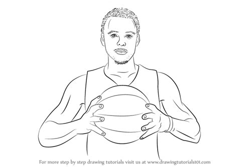 Curry 4 Sketches by Learn How To Draw Stephen Curry Basketball Players Step