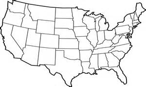 Continental Us Outline by
