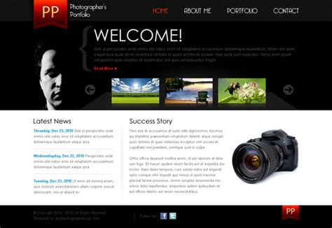 photography portfolio templates simple website layout psd www pixshark images