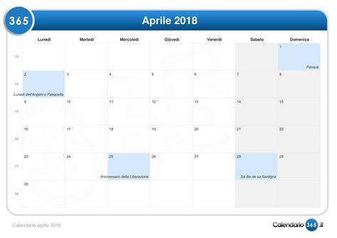 When Is In 2018 Calendario Aprile 2018
