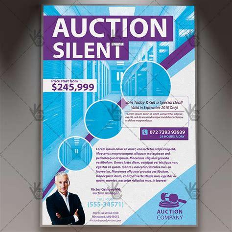Auction Silent Premium Flyer Psd Template Psdmarket Auction Flyer Template