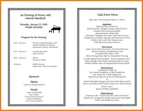 dinner event program template template resume examples agdrw0oknl