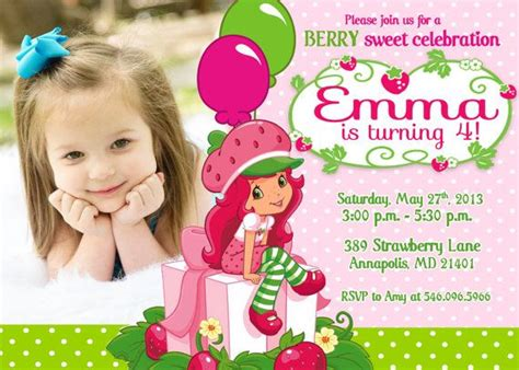 Strawberry Shortcake Invitation Template by Strawberry Shortcake Birthday Invitations Strawberry